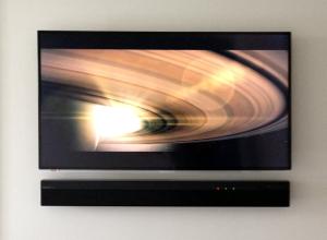 Master bedroom - mounted TV & sound bar