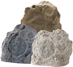 Rock shaped landscape speakers