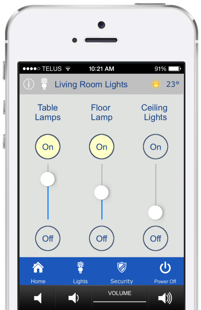 iphone light control